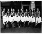 Choral ensemble in carpeted lounge, 1977