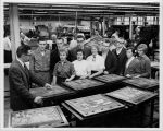 Journalism Students Touring Elgin Courier-News in 1960