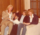 Students and Teacher on Couch, Lake Forest Academy, 1976