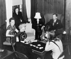 Faculty Card Game, Ferry Hall, 1948