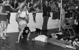"Field Day Student ""Wheelbarrow"" Races, Ferry Hall, 1974"