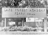 School Sign, Lake Forest Academy, 1982
