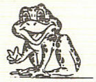 Caxy Frog Mascot Logo Drawing, Lake Forest Academy, 1980