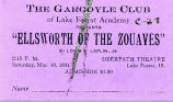 "Production of ""Ellsworth of the Zouaves"" Admission Ticket, 1934"