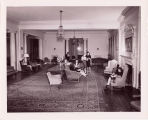 Students in Lounge, North Building, Ferry Hall, circa 1950