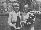 Yellow Team Captain Holding Monty, Ferry Hall, 1967