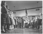 Students with American Flag 1955
