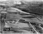 Machesney Airport aerial view, circa 1962, looking West
