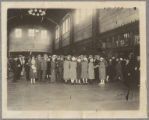 Crowd in Union Station in Chicago