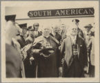 Cardinal O'Connell and Mayor Dever in front of the South American