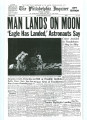 Replica Philadelphia Inquirer Newspaper about NASA