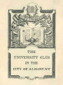 University Club in the City of Albany, N. Y.