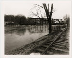 Diagonal Railroad Bridge, 1937 Galena Flood