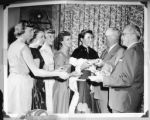 Eureka Pumpkin Festival Court Receives Gifts, 1955.