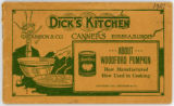 Dick's Kitchen About Woodford Pumpkin: How Manufactured How Used in Cooking Booklet