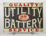 Utility Battery Company Sign