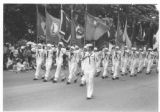 Rose Parade, 1983, U.S. Navy Color Guard and Marching Unit