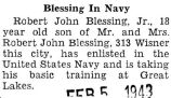 Blessing in Navy