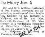 To Marry Jan. 6