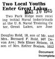 """Two Local Youths Enter Great Lakes"" (Document Incomplete)"
