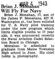 Brain J. Monahan Will Fly For Navy