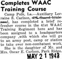 Completes WAAC Training Course