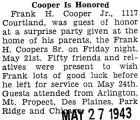 Cooper is Honored