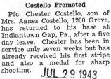 Costello Promoted