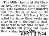 Elroy (Shorty) Miller was stationed in the Aleutians
