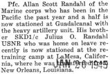 Elwin Scott Randahl was stationed at Guadalcanal with the heavy artillery unit