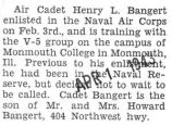 Enlisted and trained with the Naval Air Corps
