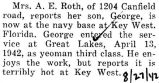 George Roth was stationed at the navy base in Key West, Florida