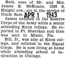 James McKoane was sent to Miami, Florida with the Army