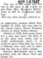 John Joseph McCormick enlisted as an apprentice seaman and was sent to Great Lakes Naval Training...