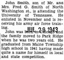 John Smith received army air force training at the University of Tennessee