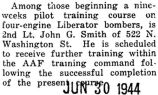 John Smith took a nine week pilot training course for four-engine Liberator bombers