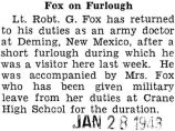 Fox on Furlough