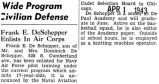 Frank E. DeSchepper Enlists in Air Corps
