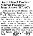 Grace Steinel Promoted Mildred Fleischman Joins Army's WAAC's