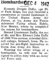 Kenneth Duffy was commissioned as a second lieutenant in Hobbs, New Mexico (Title cut-off)