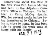 Murray has been sent to the Adjutant General's Office in Chicago