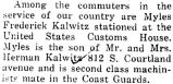 Myles Kalwitz was stationed at the United States Customs House
