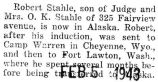 Robert Stahle was stationed in Alaska