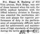 Rosberg was part of the 327th medical battalion, which was honored with a plague