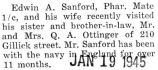 Sanford and his wife visited his sister and brother-in-law in Park Ridge