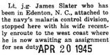 Slater and his wife visited Park Ridge en route to the West Coast from Edenton, North Carolina