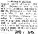 Johhnson [sic] in Marines