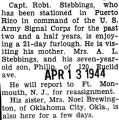 Stebbings was home on furlough after serving for two and a half years in Puerto Rico with the U.S....