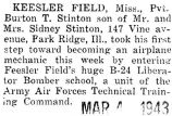 Stinton entered Keesler Field's B-24 Liberator Bomber school