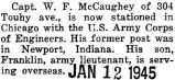 William McCaughey Jr. stationed in Chicago with the U.S. Army Corps of Engineers
